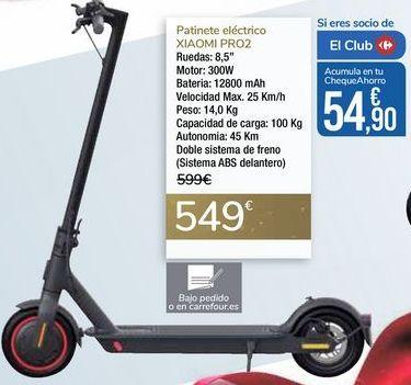 Oferta de Patinete eléctrico XIAOMI PRO2 por 549€