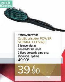 Oferta de Cepillo alisador POWER STRAIGHT CF5820 Rowenta por 39,9€