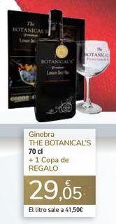 Oferta de Ginebra THE BOTANICAL'S + 1 COPA DE REGALO  por 29,05€