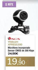 Oferta de Webcam XPRESS300 NGS por 19,9€