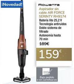 Oferta de Aspirador sin cable AIR FORCE SERENITY RH9174 ROWENTA por 159€