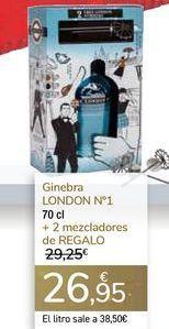 Oferta de Ginebra LONDON N! + 2 mezcladores de REGALO  por 26,95€