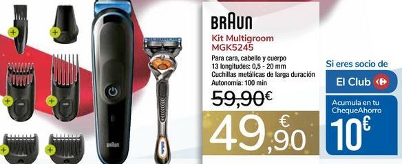 Oferta de Kit Multigroom MGK5245 BRAUN por 49,9€