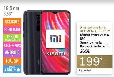 Oferta de Smartphone libre REDMI NOTE 8 PRO por 199€