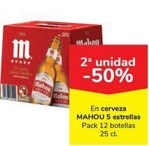 Oferta de En cerveza MAHOU 5 Estrella  por