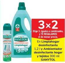 Oferta de En limpiahogar desinfectante y ambientador desinfectante hogar y tejidos SANYTOL por