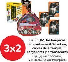 Oferta de En TODAS las lámpara para automóvil Carrefour, cable de arranque, cargadores y arrancadores  por