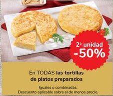 Oferta de En TODAS las tortillas de platos preparados  por