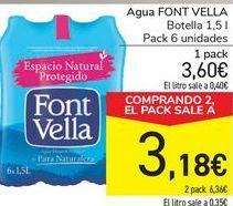 Oferta de Agua Font Vella por 3,6€