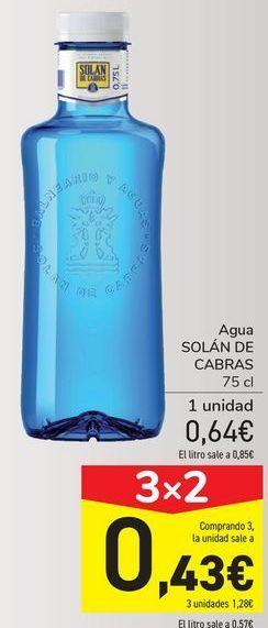 Oferta de Agua SOLÁN DE CABRAS  por 0,64€