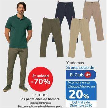 Oferta de En TODOS los pantalones de hombre  por