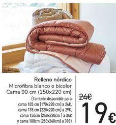 Oferta de Relleno nórdico  por 19€