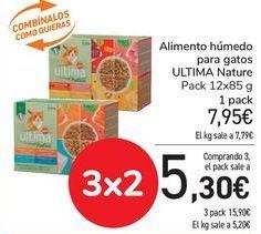 Oferta de Alimento húmedo para gatos ULTIMA Nature  por 7,95€