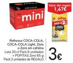 Oferta de Refresco COCA-COLA, COCA-COLA Light, Zero o Zero sin cafeína por 3€