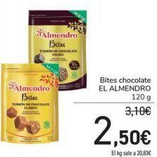 Oferta de Bites chocolate EL ALMENDRO por 2,5€