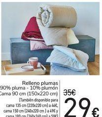 Oferta de Relleno plumas por 29€