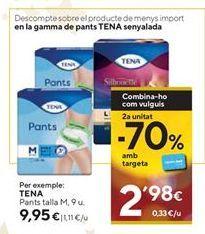 Oferta de Compresas de incontinencia Tena por 9,95€