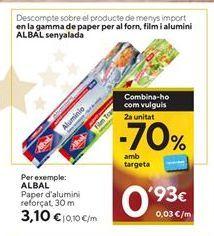 Oferta de Papel de aluminio Albal por 3,1€