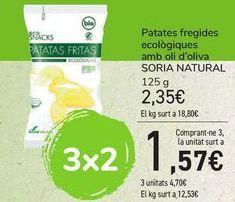 Oferta de Patatas fritas ecológicas con aceite de oliva SORIA NATURAL por 2,35€