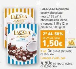 Oferta de Mi momento  coco y chocolate negro Lacasa por 3€