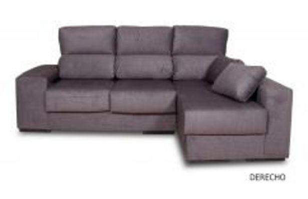 Oferta de Sofá 3 plazas con chaiselongue en gris oscuro por 469,99€
