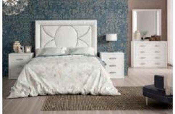 Oferta de Dormitorio de matrimonio en blanco poro y plata por 899,99€