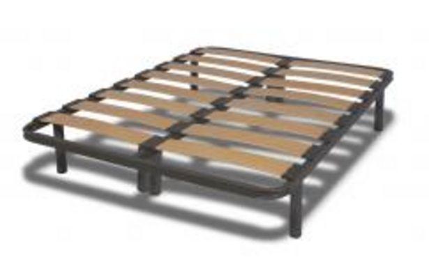 Oferta de Conjunto dos somieres de lamas de madera y pletinas de unión, medida total 200x200 cm por 128,99€