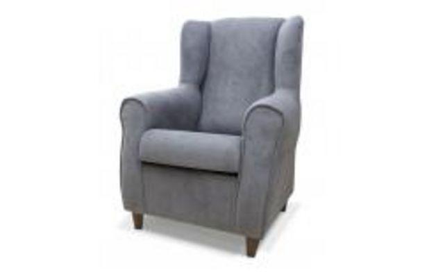 Oferta de Elegante butaca con tapizado en gris por 139,99€