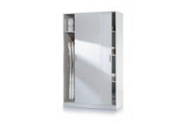 Oferta de Armario 2 puertas correderas en blanco mate por 144,99€
