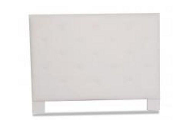 Oferta de Cabecero tapizado rombos, color blanco por 129,99€