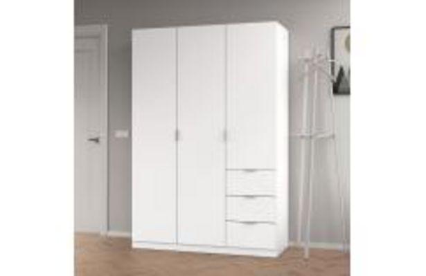 Oferta de Armario 3 puertas en color blanco mate por 194,99€