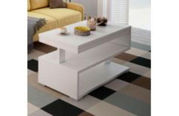Oferta de Moderna mesa de centro en color blanco por 79,99€