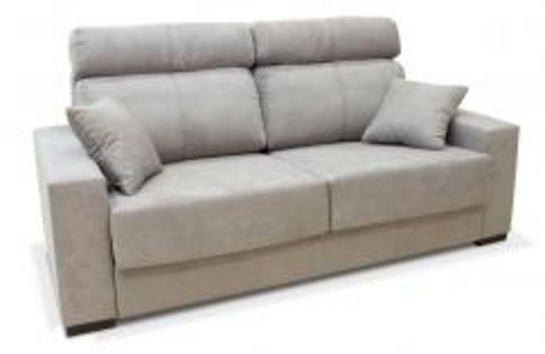 Oferta de Sofá cama con apertura italiana en color gris por 449,99€