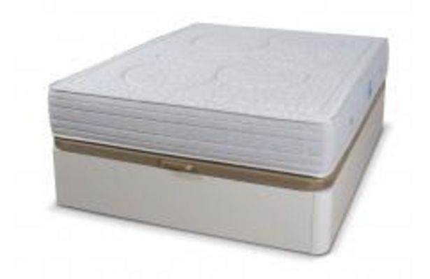 Oferta de Conjunto canapé blanco y colchón muelle ensacado por 599,99€