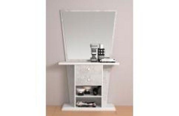 Oferta de Moderna consola en blanco poro y gris piedra por 149,99€