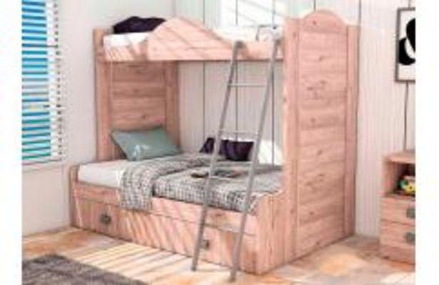 Oferta de Dormitorio juvenil con litera en color roble por 399,99€