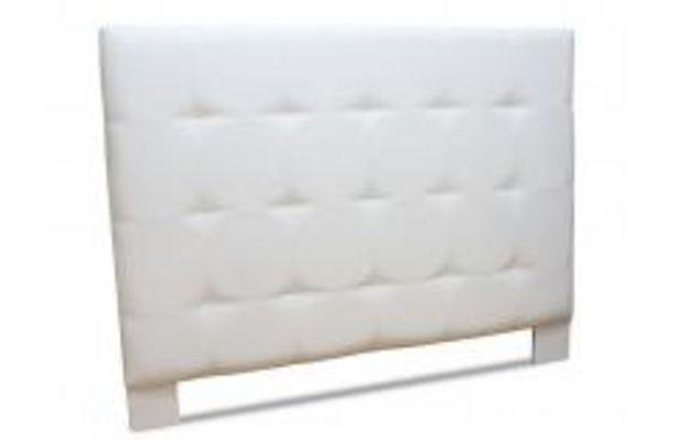 Oferta de Cabecero tapizado en color blanco por 139,99€