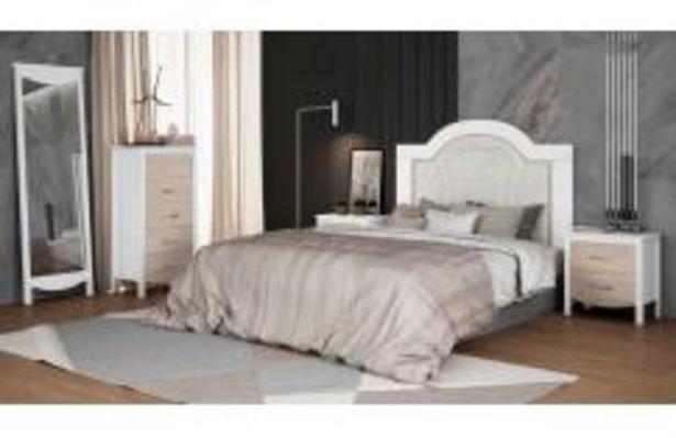 Oferta de Dormitorio de matrimonio en color blanco y japandi por 549,99€