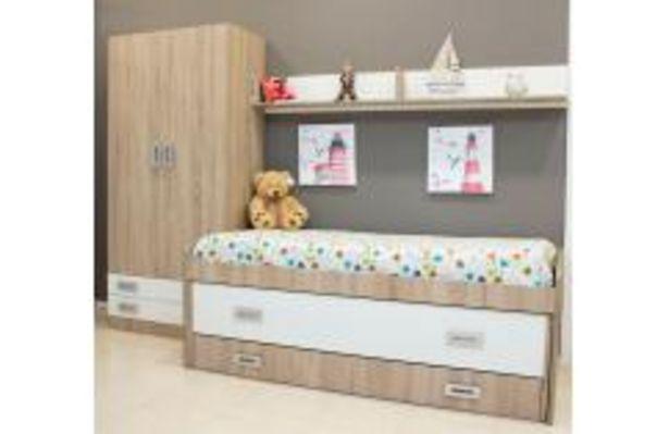 Oferta de Dormitorio juvenil en color roble y blanco por 374,99€