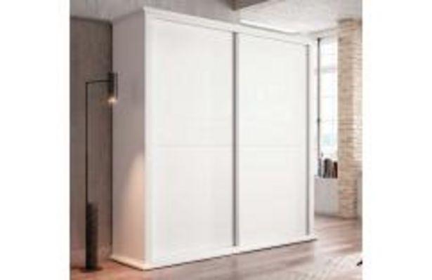 Oferta de Armario 2 puertas correderas con cornisa en blanco poro por 489,99€