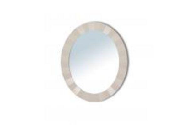 Oferta de Espejo ovalado en blanco por 84,99€