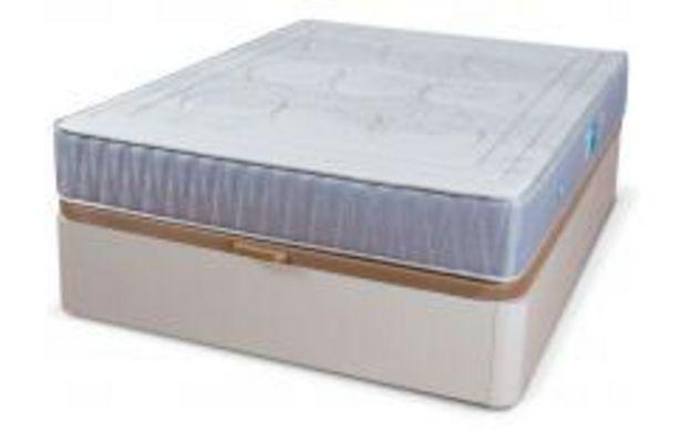 Oferta de Conjunto canapé Galera blanco + colchón Medina por 499,99€