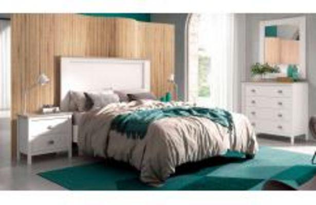 Oferta de Dormitorio de estilo minimalista en color blanco y roble por 479,99€