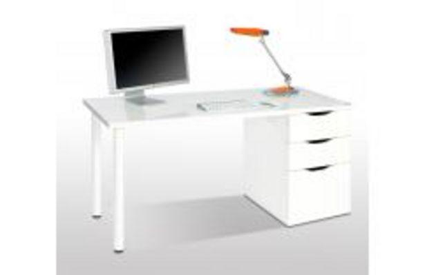 Oferta de Mesa de ordenador reversible en blanco por 99,99€