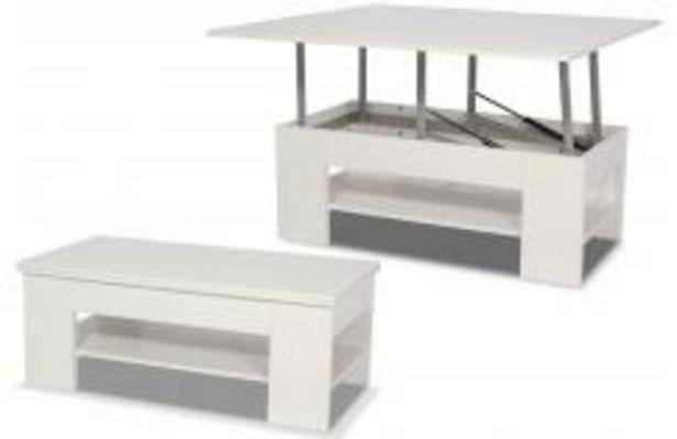 Oferta de Mesa de centro extensible en color blanco por 199,99€