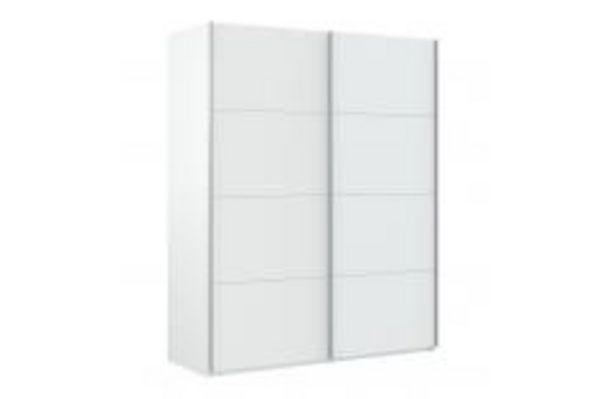 Oferta de Armario de puertas correderas en color blanco artik por 219,99€