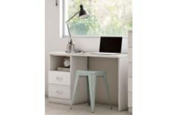 Oferta de Mesa estudio juvenil blanco y gris por 99,99€