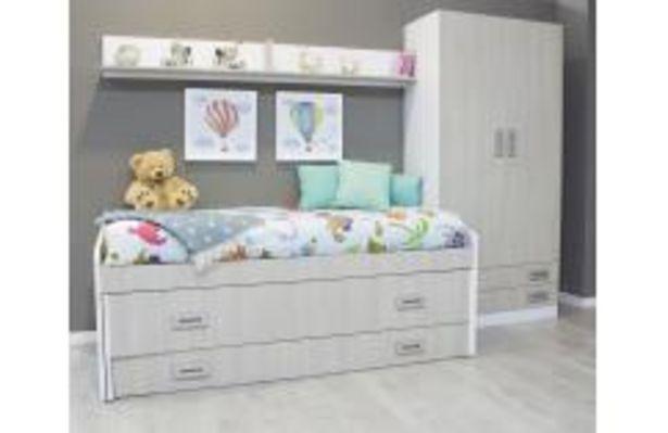Oferta de Dormitorio juvenil en blanco y japandi por 399,99€