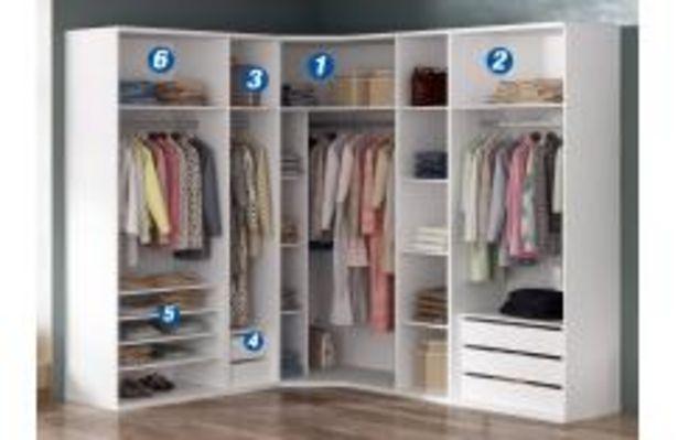 Oferta de Armario vestidor en módulos en color blanco por 249,99€