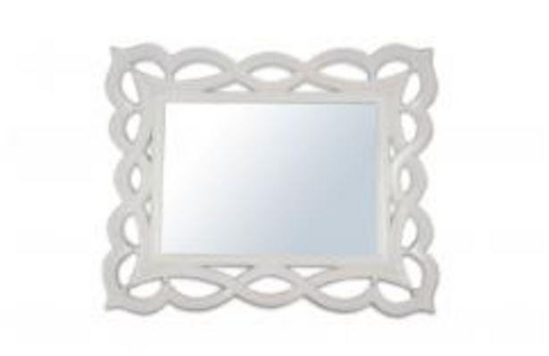 Oferta de Espejo blanco, modelo Lazos. por 119,99€